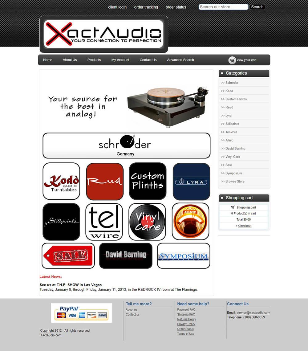 XactAudio Website Design